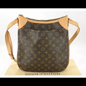 💯% AUTH Louis Vuitton Monogram Odeon MM Crossbody